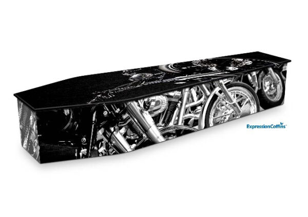 Expression Coffins Black Chrome Motorcycle 2200