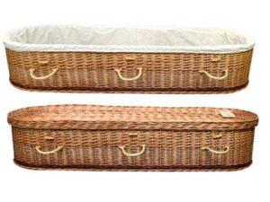 Hand Woven Cradle Wicker Coffin 1200