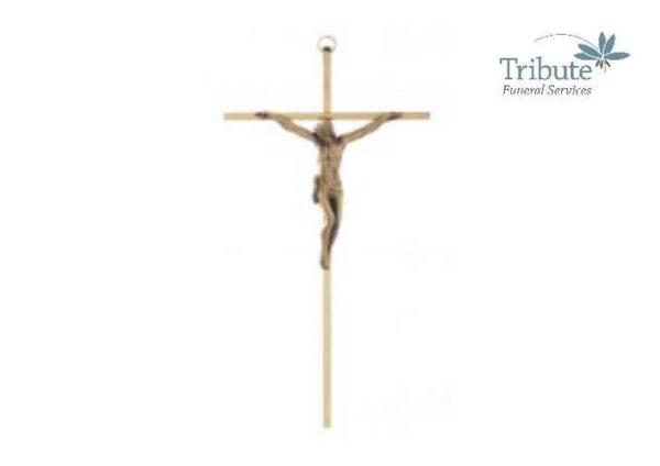 Thin Gold Crucifix