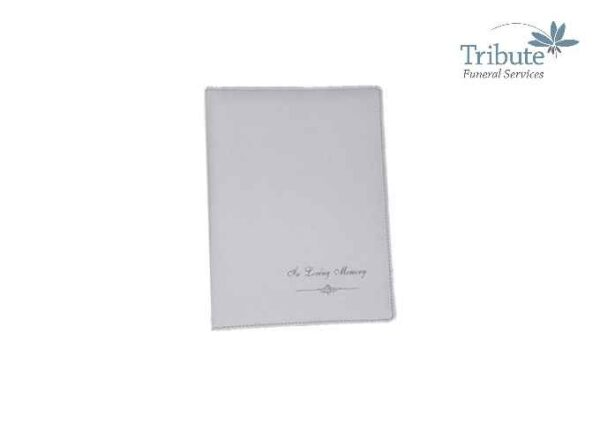 White Leather Memorial Book 60 1
