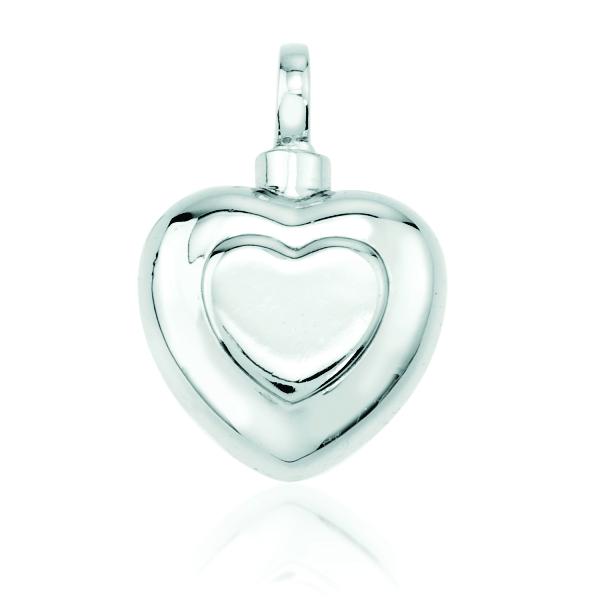 Double Heart Silver