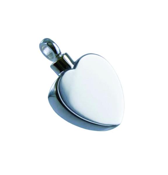 Flat Heart Silver