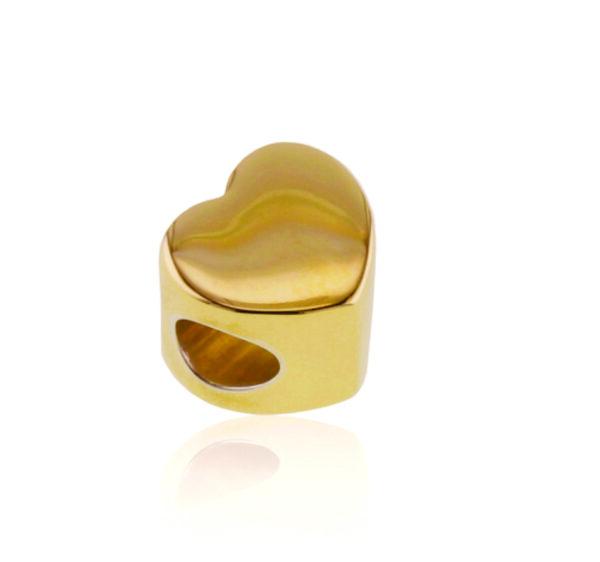 Gold Heart Bead