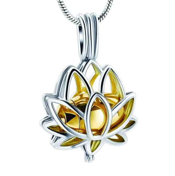 Lotus Urn Pendant Gold